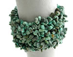 African Turquoise Stretch Cuff Bracelet