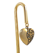 Heart charm bookmark - Unique Valentine's Day & Love Bookmarks from Hookmarks :  shopping heart bookmarks gift for women